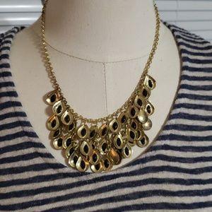 "Gold & Black Necklace & Earring Set 18"""